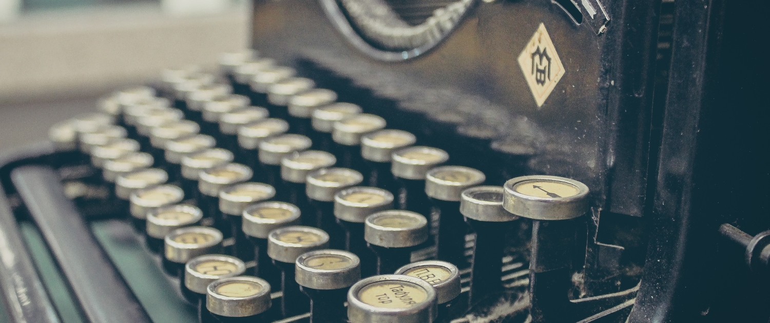 In the beginning - the history of marketing type writer